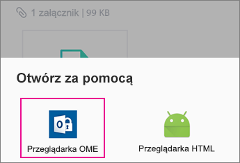 OME Viewer z usługą Yahoo mail w systemie Android 2