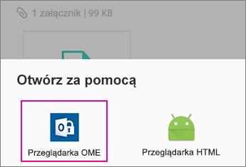 Przeglądarka OME z Yahoo Mail w systemie Android 2