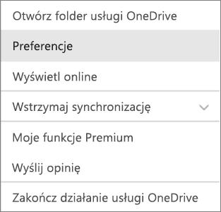 Centrum aktywności w usłudze OneDrive dla komputerów Mac