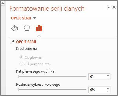 Pozycja Formatuj serie danych