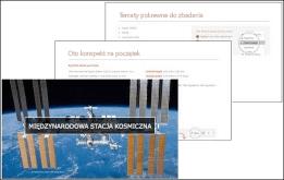 Funkcja Szybki start programu PowerPoint umożliwia utworzenie konspektu prezentacji na podstawie wybranego tematu.