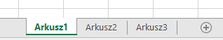 Karty arkuszy programu Excel wyświetlany u dołu okienka programu Excel