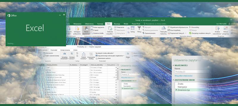 Zapytanie w programie Excel 2016