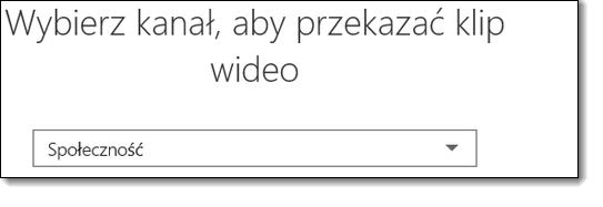 Usługi Office 365 wideo wybierz przycisk kanał przekazywania klipu wideo