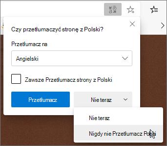 Wybierz pozycję nigdy nie Przetłumacz
