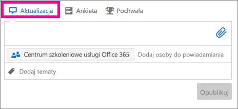 Okno dialogowe aktualizacji
