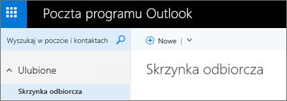 Tak wygląda wstążka nowej usługi Outlook.com