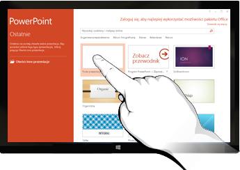Program PowerPoint na urządzeniach dotykowych