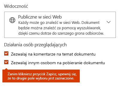 Opcja pobrania dokumentu w witrynie Docs.com