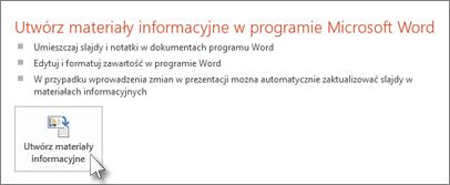 Tworzenie materiałów informacyjnych w programie Word