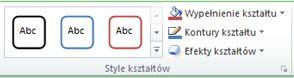 Obraz Wstążki programu Excel