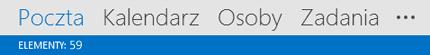 Elementy programu Outlook