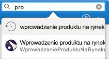 Wpisywanie wyszukiwania