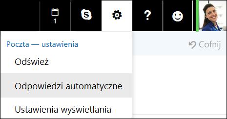 Odpowiedzi automatyczne aplikacji Outlook w sieci Web