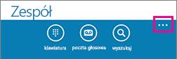 Naciśnij przycisk z trzema kropkami u dołu ekranu, aby wyświetlić menu Więcej ustawień
