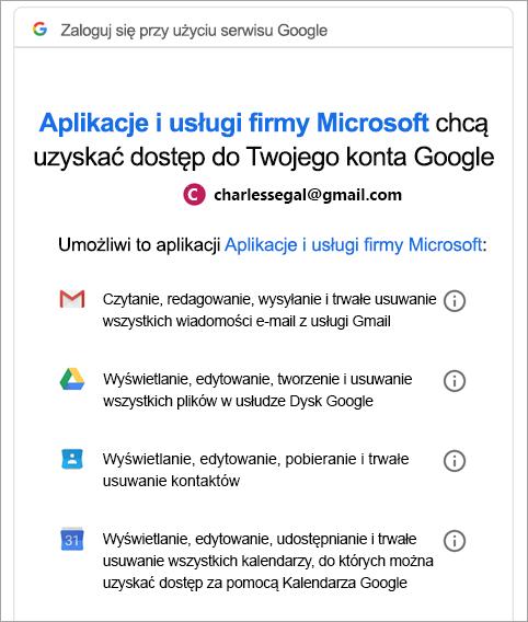 Żądaj uprawnień Google