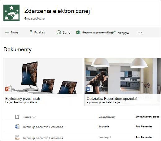 Biblioteka dokumentów programu SharePoint