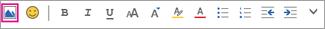 Opcja Wstaw obraz na pasku menu formatowania