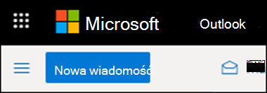 Tak wygląda wstążka aplikacji Outlook w sieci Web.