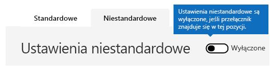 Zrzut ekranu przedstawiający wyłączone niestandardowe ustawienia zasad filtru spamu.