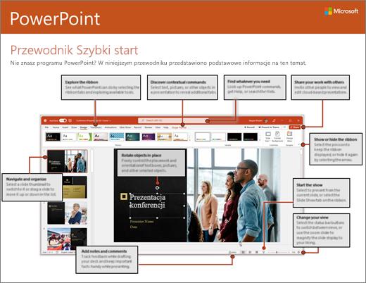 Przewodnik Szybki start dla programu PowerPoint 2016 (Windows)
