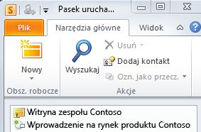 Obszar roboczy programu SharePoint oznaczony ikoną błędu synchronizacji