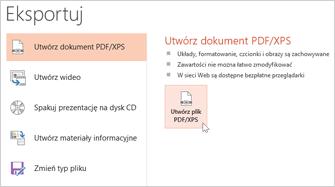 Zapisywanie prezentacji jako pliku PDF