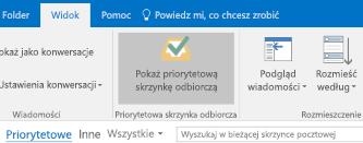 Funkcja priorytetowej skrzynki odbiorczej programu Outlook