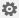 Przycisk Ustawienia w kształcie koła zębatego