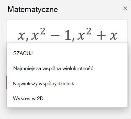 Lista tablic w Asystencie matematycznym