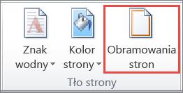 Przycisk Obramowania stron w programie Word 2010