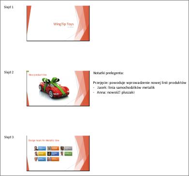 Materiały informacyjne wyświetlane w programie Word