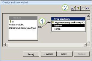 Kreator analizatora tabel