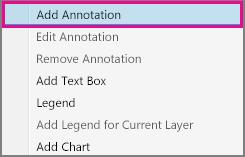 Polecenie Dodaj adnotację w menu skrótów