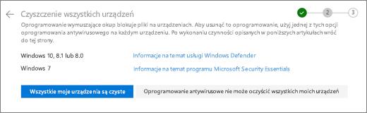 Zrzut ekranu przedstawiający wyczyść wszystkich swoich urządzeniach ekranu w witrynie internetowej usługi OneDrive