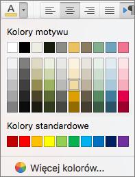Wybieranie koloru czcionki