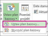 Zapisywanie planu bazowego projektu