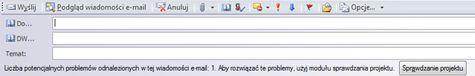 Wysyłanie publikacji jako wiadomości e-mail w programie Publisher 2010