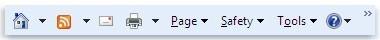 Pasek poleceń programu Internet Explorer 9