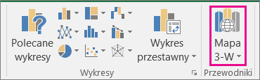 Opcja Mapa 3-W w programie Excel