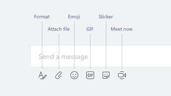 Emoji, obrazy GIF, nalepki i inne opcje