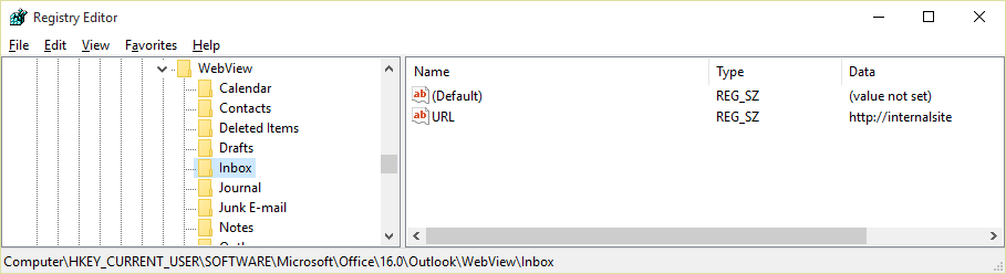 Klucz rejestru WebView