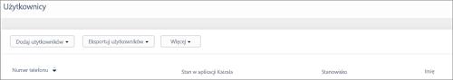 Zrzut ekranu: Dodawanie numeru telefonu użytkownika Kaizala