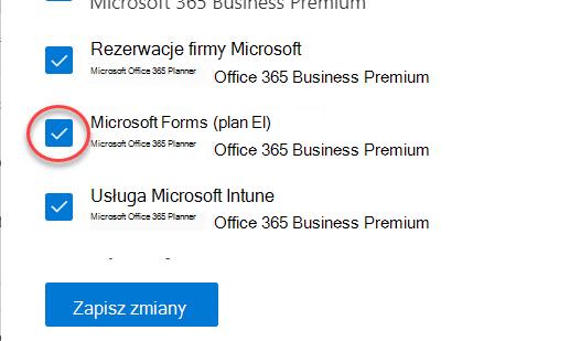 Przełącznik Microsoft Forms