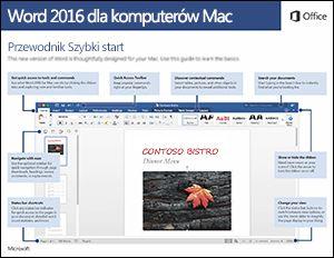Przewodnik Szybki start dla programu Word 2016 dla komputerów Mac