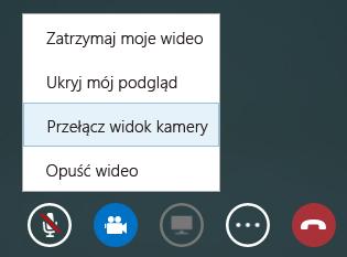 Zrzut ekranu przedstawiający przełączanie wideo