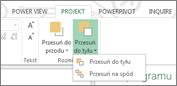 Rozmieszczanie wizualizacji w programie Power View