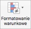 Przycisk Formatowanie warunkowe