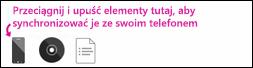 Synchronizowanie w oprogramowaniu Zune