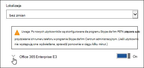 Rozwijanie licencji w celu wyświetlenia funkcji Microsoft Forms